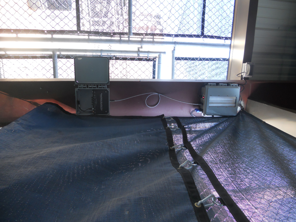 The complete batting cage solution includes a Technomad outdoor amplification and playout solution based on its PowerChiton Series, bringing power and local audio sources close to the installation point
