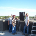 Tru-Sound Studio installs the Berlin 9040s on the courthouse roof